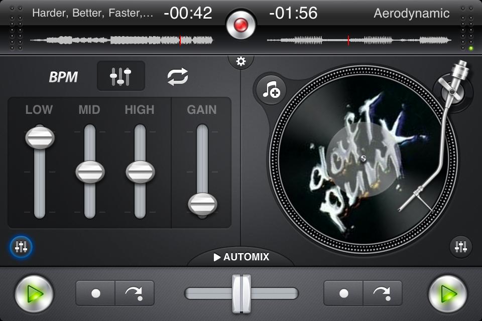 IMG 0909 Test de Djay   mixez où vous voulez sur iPhone (7,99€, en promo à 0,79€)