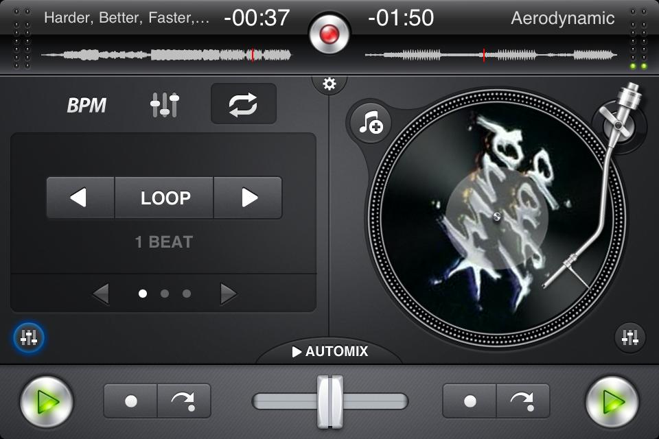 IMG 0910 Test de Djay   mixez où vous voulez sur iPhone (7,99€, en promo à 0,79€)