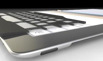 Clavier iPad Un vrai clavier pour iPad ? Directement sur celui ci !