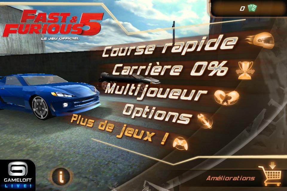 IMG 0927 Test de Fast And Furious 5 [Officiel]    Des Courses déjantées sur votre iPhone (3,99€)
