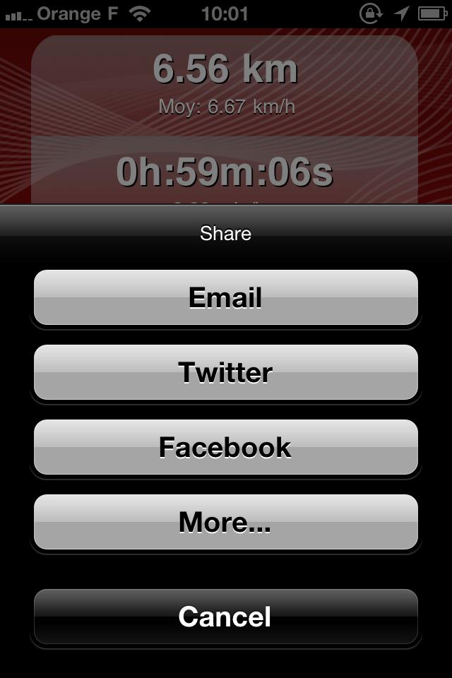 IMG 0980 10 codes à gagner de 321Run, votre compagnon running (4,99€)
