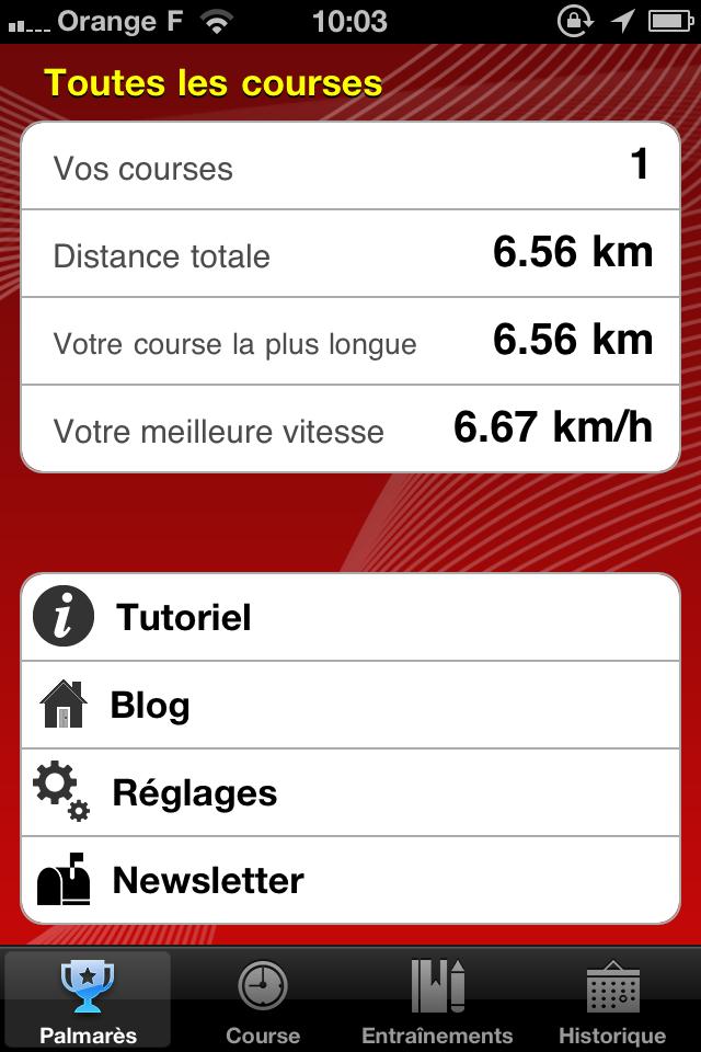 IMG 0983 10 codes à gagner de 321Run, votre compagnon running (4,99€)
