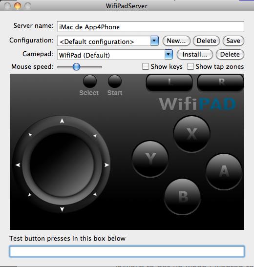 Interface Wifipad server Astuce : Utiliser gratuitement liPhone en pavé numérique sans fil pour lordinateur