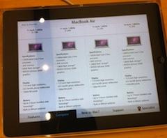 iPad Apple Store présentation Des iPad pour présenter les produits dans les Apple Store