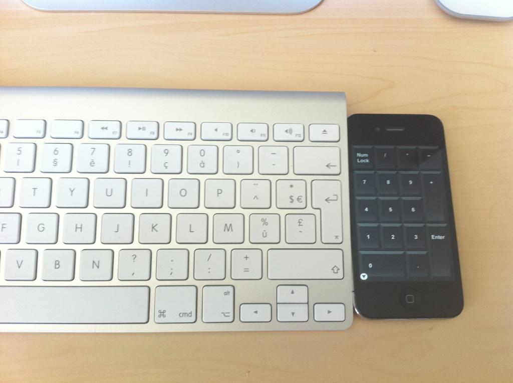 iPhone Numpad Astuce : Utiliser gratuitement liPhone en pavé numérique sans fil pour lordinateur