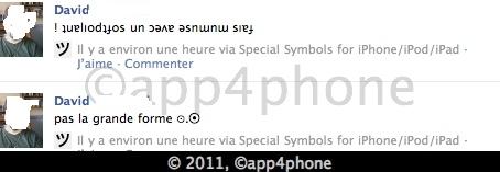 10 codes à gagner de Special symbols for Facebook et Email (0,79€)