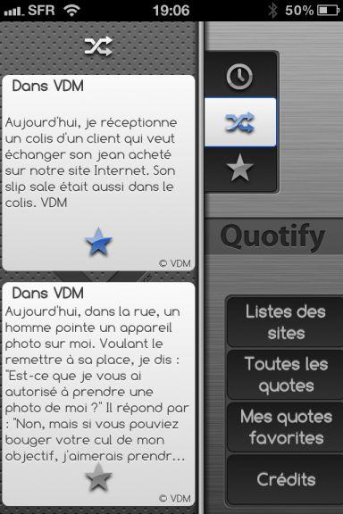 quotify 4 10 codes à gagner de Quotify   Les quotes de 50 célèbres sites réunis dans la même App (0,79€)
