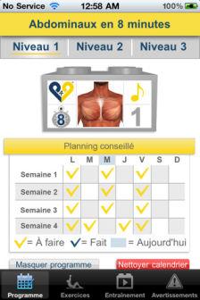Abdominaux 8 semaines [EDIT] Les bons plans de lApp Store ce mercredi 29 juin 2011