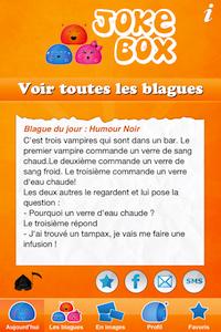 Accueil2 9 codes à gagner JokeBox (0,79€) : lapplication hilarante remplie de blagues