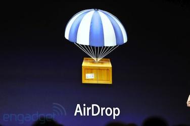 AirDrop iOS 7 ajouterait AirDrop