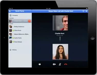 Capture d'écran 2011 06 25 à 01.12.46 Skype sur iPad se dévoile dans une vidéo officieuse