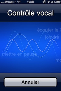 Contrôle vocale iOS 5 : le contrôle vocal est désormais un homme !