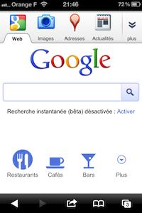 Google iPhone Un nouveau Google sur votre iPhone