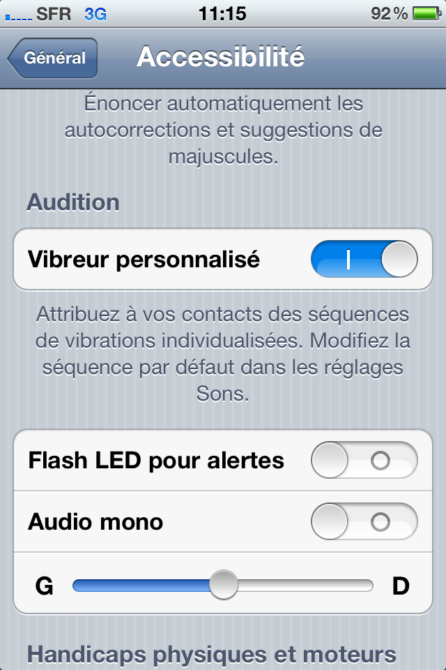 IMG 0026 iOS 5 : Des vibrations personnalisées sur iPhone
