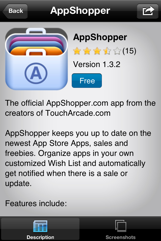 IMG 0048 [Test] Discovr Apps   Découvrez de nouvelles applications grâce à celles que vous possédez déjà! (0,79€)