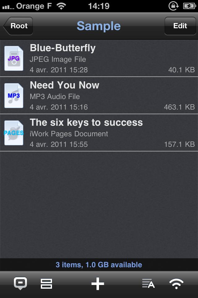 IMG 1135 [Test] Phone Drive, gérez et transférez vos fichiers simplement (0,79€)