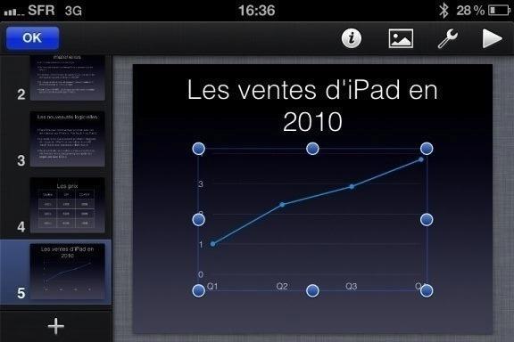 Image keynote 11 Test de iWork 1/3   Keynote, créer des diaporamas de qualité sur iPhone (7,99€)