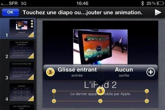 Image keynote 19 Test de iWork 1/3   Keynote, créer des diaporamas de qualité sur iPhone (7,99€)