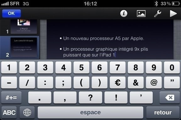 Image keynote 3 Test de iWork 1/3   Keynote, créer des diaporamas de qualité sur iPhone (7,99€)