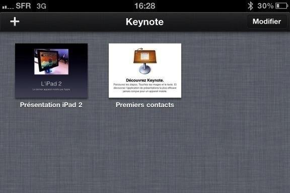 Image keynote 4 Test de iWork 1/3   Keynote, créer des diaporamas de qualité sur iPhone (7,99€)
