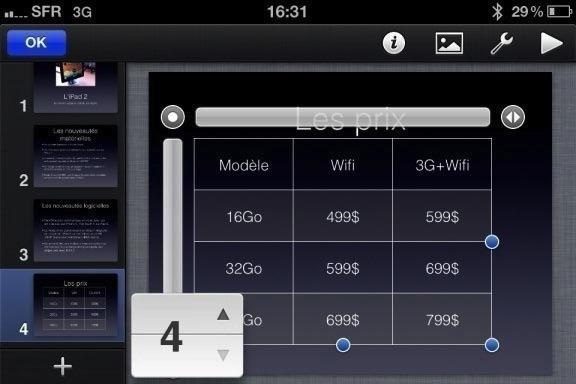 Image keynote 71 Test de iWork 1/3   Keynote, créer des diaporamas de qualité sur iPhone (7,99€)