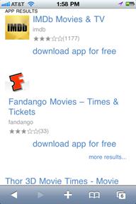 Lmdb bing Bing sait maintenant afficher les applications iOS