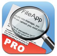Logo File App Pro [Edit] 10 codes à gagner FileApp Pro (3,99 €) : un utilitaire parfait pour lire tous vos fichiers : textes, photos, vidéos...