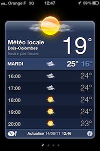 MétéoNative iOS 5 : la météo native améliorée