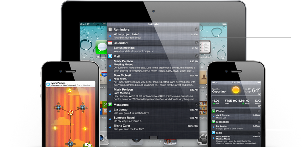 Notification features Récapitulatif de la Keynote : Tout savoir sur iOS5