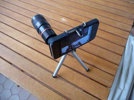 P1050104 [Test] Transformez vous en paparazzi avec le téléobjectif pour iPhone! (~25€)
