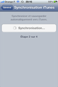 Synchro WiFi iTunes iOS 5 : la synchronisation WiFi   iTunes en images