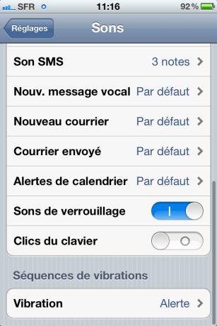 Vibrations iOS5 2 iOS 5 : Des vibrations personnalisées sur iPhone