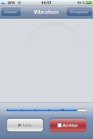 Vibrations iOS5 4 iOS 5 : Des vibrations personnalisées sur iPhone