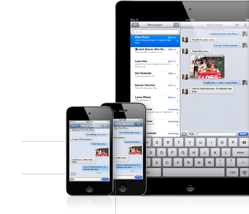 features imessage Récapitulatif de la Keynote : Tout savoir sur iOS5