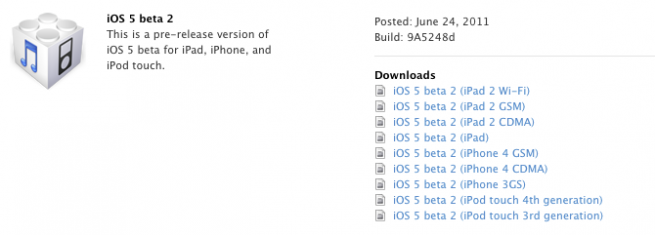 iOS 5 Beta 2 [Edit] iOS5 et iTunes 10.5 passent en Beta 2