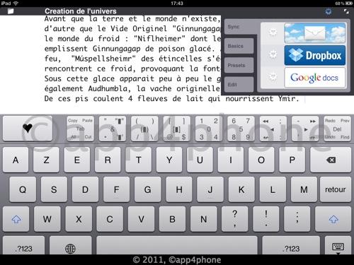 5 codes à gagner de Heart Writer   Un éditeur de texte intelligent pour iPad (1,59€)