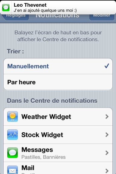 ios5 captures 12 App4Phone.fr : Premier aperçu diOS5   Notification Center, Photos, et Reminders