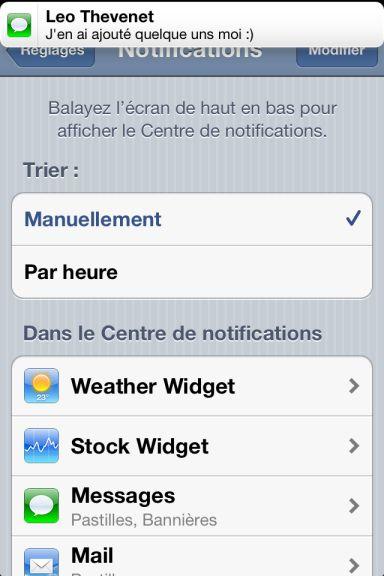 ios5 captures 12 App4Phone.fr : Premier aperçu diOS5   Notification Center, Photos, et Reminders