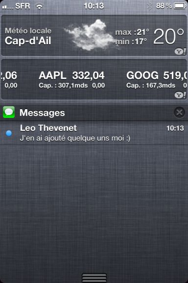 ios5 captures 13 App4Phone.fr : Premier aperçu diOS5   Notification Center, Photos, et Reminders