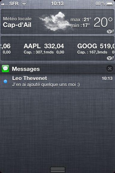 ios5 captures 13 App4Phone.fr : Premier aperçu diOS5   Notification Center, Photos, et Reminders