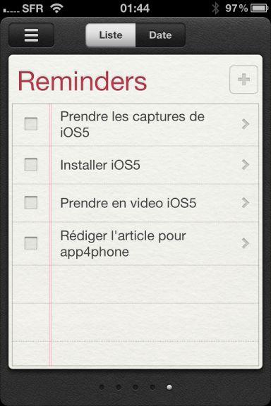 ios5 captures 2 App4Phone.fr : Premier aperçu diOS5   Notification Center, Photos, et Reminders