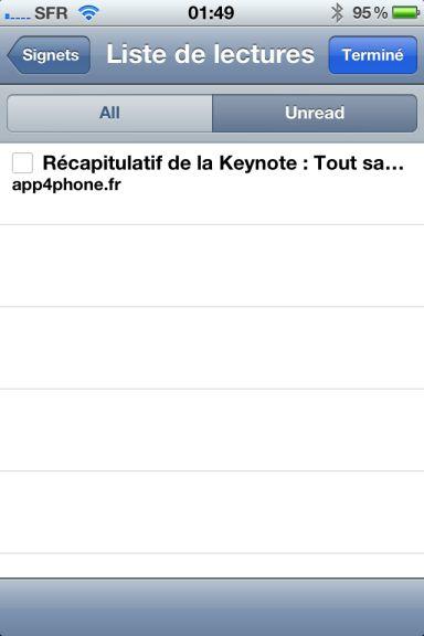 ios5 captures 6 iOS5 : Safari fait le plein de nouveautés
