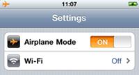 mode avion Le mode avion de liPhone ne marche pas ! Photo à lappuis