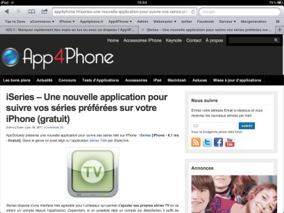 photo 10 58 29 iOS5 : Safari fait le plein de nouveautés