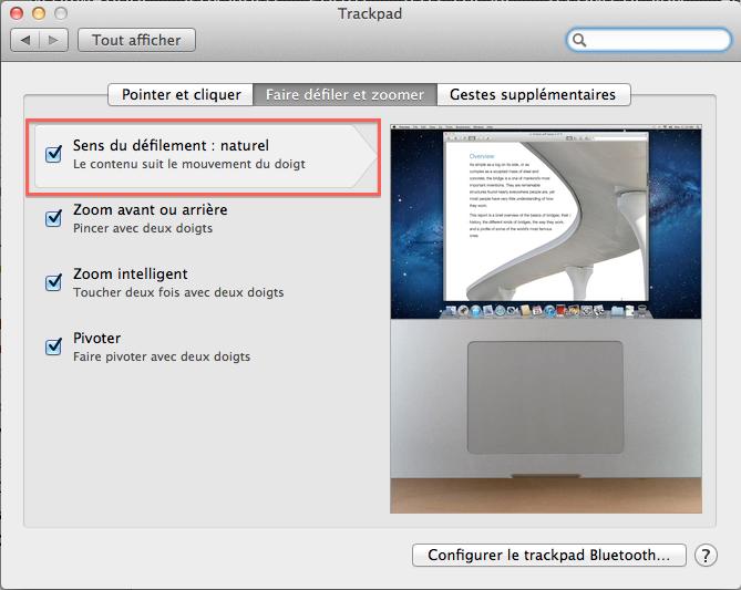 Astuce Lion Scroll 2 Astuce : Défiler dans le bon sens sur Mac OSX Lion