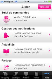 Autres [Test] La Redoute pour iPhone (gratuit) : faites vous plaisir ce sont les soldes tous les jours !