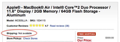 Best buy MBA Max OSX Lion et les nouveaux Macbook Air pour cette semaine ?