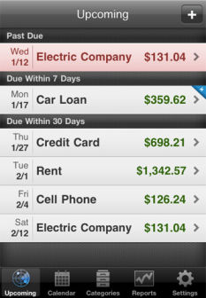 BillMinder [EDIT] Les bons plans de lApp Store ce lundi 4 juillet 2011