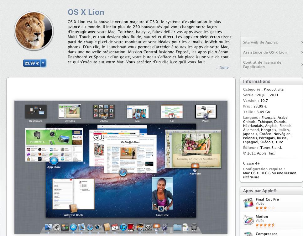 Capture d'écran 2011 07 20 à 14.55.06 [Màj] Mac OSX Lion est disponible à lachat sur le Mac App Store