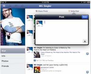 Capture d'écran 2011 07 25 à 18.14.26 Facebook sur iPad pour dans très peu de temps !